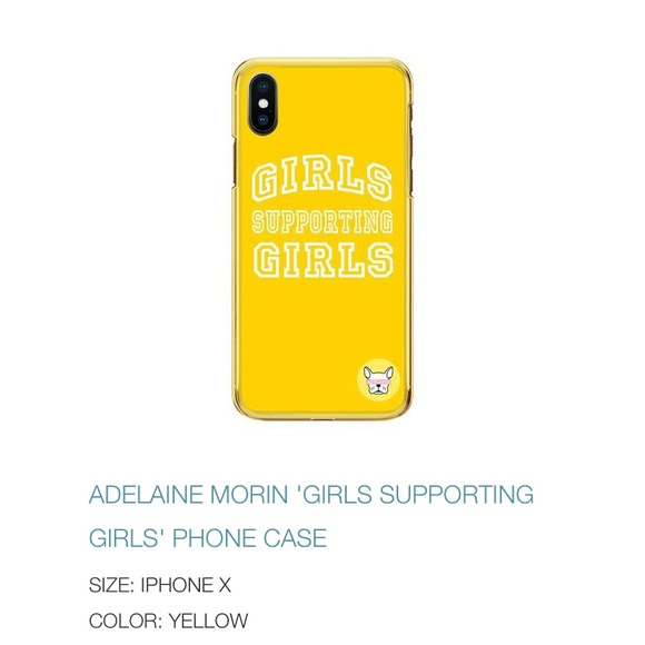 newest 064ec 404b7 Adeline Morin girls supporting girls phone case NWT